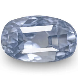 Igi Certified Burma Blue Sapphire 2.87 Cts Natural Untreated Pastel Blue Oval