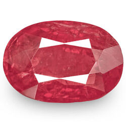 Igi Certified Madagascar Ruby 2.91 Cts Natural Untreated Intense Pinkish Red