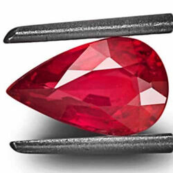Igi Certified Mozambique Ruby 1.22 Cts Natural Untreated Neon Pinkish Red Pear