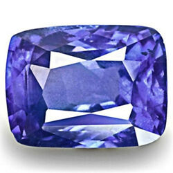 Igi Certified Tanzania Blue Sapphire 3.41 Cts Natural Untreated Royal Blue