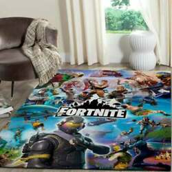 Sale - Fortnite Game Area Rug Game Room Gift For Gamer Graphic Print Home Us