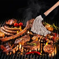 Bbq Basting Mop With 4 Extra Replacement Headsgrill Basting Mop Long Handle