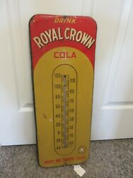 Vintage Advertising Royal Crown Cola Thermometer Soda Fountain Store A-565