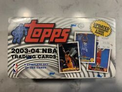 2003-04 Topps Basketball Factory Sealed Complete Set Lebron James Rookie Card