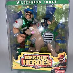 Fisher Price Rescue Heroes Wilderness Force Bill Barker Buster 2000 Nos Unopened