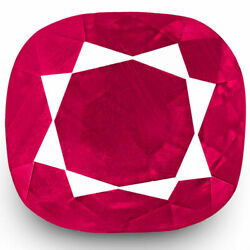 Igi Certified Burma Ruby 1.11 Cts Natural Untreated Velvety Deep Pinkish Red
