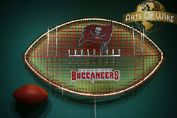 Buccaneers Pro Football Art-man Cave And Sports Bar Art Fathers Day Led Lighting