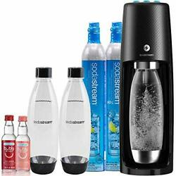 Sodastream Fizzi One Touch Sparkling Water Maker Bubly Drop Bundle, Black