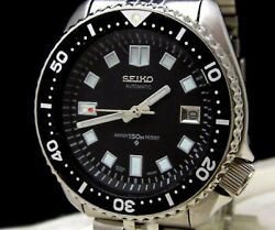 Seiko 150m Diver 7002-700j Automatic Custom Second 2nd 6105 Black Dial Menand039s