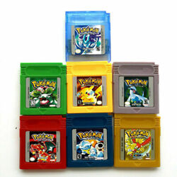 7PCS Game Cards Pokemon for Nintendo GB GBC GBA Game Cards US Version USPS $38.50
