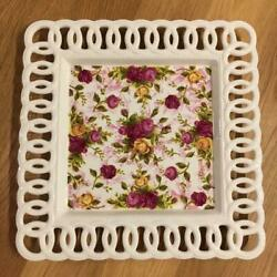 Royal Albert Old Country Roses Plate Reticulated With Box Salad Dinner Dessert