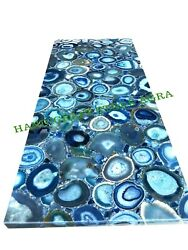 Blue Agate Dinning Table Top Agate Counter Top Agate Back Splash And Buffet Table