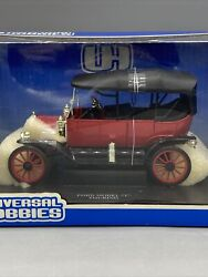 Universal Hobbies 1/18 Scale Red Ford Model T Touring Diecast Model Rare Cersi
