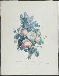 Prevost - Bouquet. 0-2, 1805 Collection Hand-colored Stipple Engraving