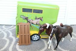 Breyer Horse Traditional Series Two-horse Trailer Includes Bonanza And Horse