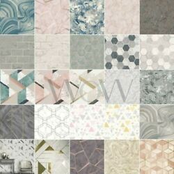 Marble Wallpaper - Metallic Geometric Glitter Luxe Fractal Azurite And More