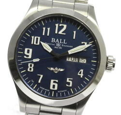 With Box Keeping Ballwatch Ball Watch Silver Star Day-date Nm2182c Automatic