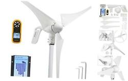 Wind Turbine Generator 12v 400w With A 30a Hybrid Charge Controller. As Solar