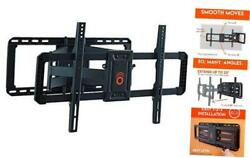 Full Motion Tv Wall Mount For Big Tvs Up To 90 Tvs - Smooth Swivel Tilt And