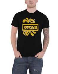 Oasis T Shirt Drawn Band Logo Definitely Maybe New Official Mens