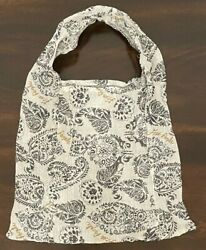 Free People White Lightweight Fabric Over the Shoulder Bag Tote Cloth Purse Boho $8.19