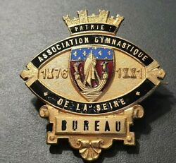 1881 Paris Creation Of French Olympic Team Vintage Gymnatic Sport Badge Medal