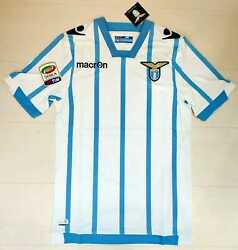 6857 Macron Ss Lazio Third Shirt Competition Home Man Soccer 2014+ Patch Serie A
