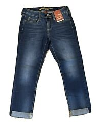 Arizona Jeans Size 0 Cuffed Crop New With Tags Msrp 42
