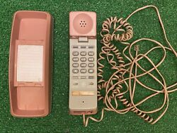 Vintage General Electric Telephone Push Button Pink House-phone Read