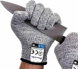 Cut Resistant Glovessafety Levelwork Proof Butcher Coated Kitchen Protection