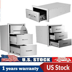 17 Triple Outdoor Kitchen Bbq Island Components Stainless Steel Access Drawer