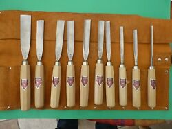 Vintage Dastra Werkzeug 10 Chisels [ Of The Highs Quality]