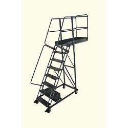 Ballymore Rolling Ladder Capacity 300 Lb Height 120 In. Steel
