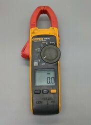 Fluke 374 Fc Wireless True-rms Ac/dc Clamp Meter W/ Leads - Cleaned And Tested