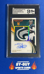 2020 Panini Immaculate Jalen Hurts Prem Patch Rookie Rc Rpa Auto Gold/25 Sgc9/10