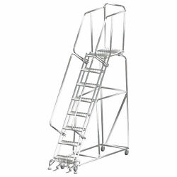 Ballymore Rolling Ladder Capacity 450 Lb Height 113 In. Stainless Steel