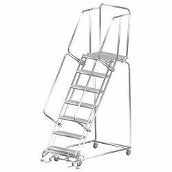 Ballymore Rolling Ladder Capacity 450 Lb Height 103 In Stainless Steel