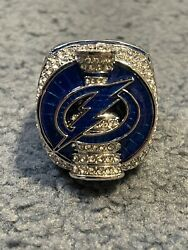 2020 Tampa Bay Lightning Stanley Cup Champions Ring Size 8 Back To Back Champs