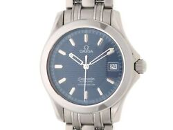 Omega Seamaster 120m 2501.81 Ss/navy Dial Automatic Winding Mens 436 Secondhand