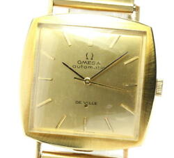 Omega Devil K18yg Cal.711 Antique Automatic Winding Mens Secondhand