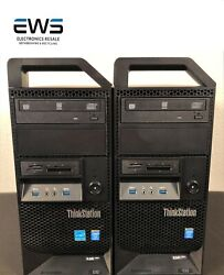 Lot Of 2 Lenovo Think Station E32 Tower-i5-4570+320gb Hdd+8gb Ram Win 10 Pro