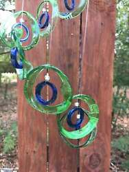 Wind Chimes,glass Windchimes-recycled Beer Bottles, Garden Decor