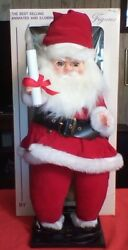 Vintage Display Arts Animated Santa Motionette With Candle