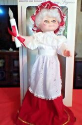 Vintage Display Arts Animated Mrs.santa Motionette With Candle
