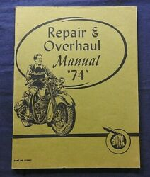 Indian Motorcycle Company 74 Chief Repair And Overhaul Manual Minty 1960and039s Print