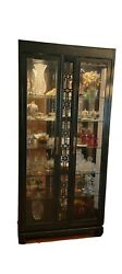 Thomasville Display Lighted Cabinets Set Of 2 Curio Glass And Mirror.