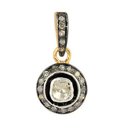 Natural Pave Diamond Solid 925 Sterling Silver Charms Womens Pendant Necklace
