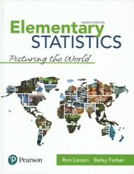 Elementary Statistics Picturing The World Hardcover By Larson Ron Farber...