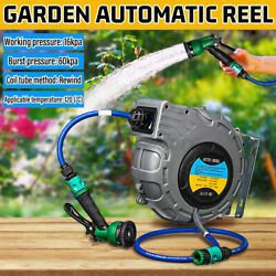 Automatic Retractable Garden Hose Pipe Reel Water Car Clean Sprayer Wall Mounted