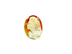 Cameo Of Shell Intaglio With Antique Style Italian From Italy And In Hand Carved